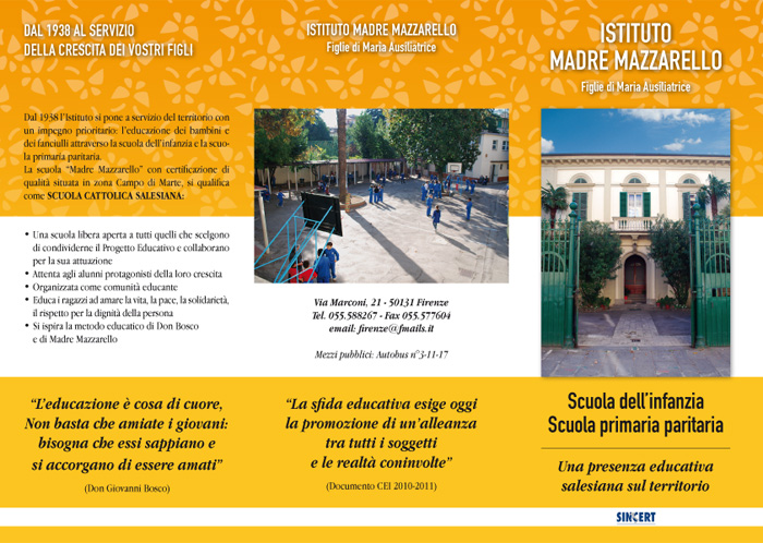 Istituto Madre Mazzarello – Brochure 2011